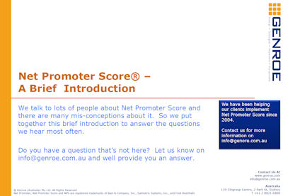 net promoter score whitepaper download